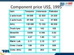 component price us 1995