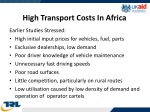 high transport costs in africa