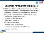 logistics performance index lpi