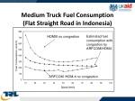 medium truck fuel consumption flat straight road in indonesia