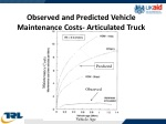 observed and predicted vehicle maintenance costs articulated truck