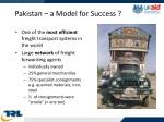 pakistan a model for success