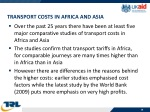 transport costs in africa and asia