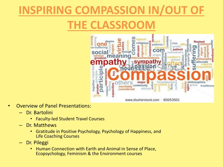 inspiring compassion in out of the classroom n.