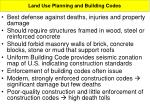 land use planning and building codes