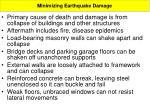 minimizing earthquake damage