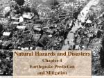 natural hazards and disasters chapter 4 earthquake prediction and mitigation