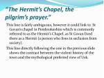 the hermit s chapel the pilgrim s prayer