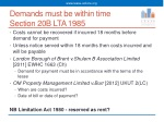 demands must be within time section 20b lta 1985