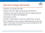 service charge demands