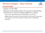 service charges they must be reasonable