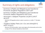 summary of rights and obligations