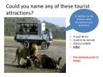could you name any of these tourist attractions3