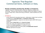 agencies that regulate commercial items software or data