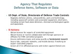 agency that regulates defense items software or data