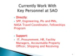 currently work with key personnel at sao