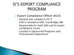 si s export compliance program