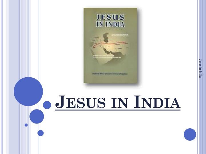 jesus in india n.