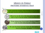 jesus in india provides evidence that