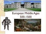 european middle ages 500 1400