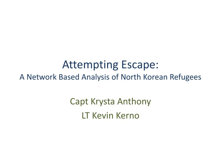 analysis of the escape The escape or, a leap for freedom by the first published play by an african american writer, the escape explored the ernest's keen analysis of this.