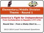 elementary middle division theme round 1