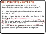 six point questions