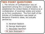 two point questions