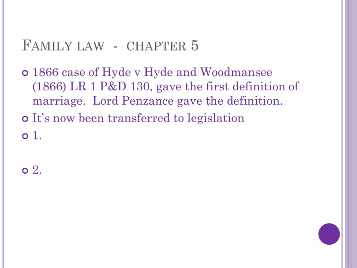 Family law  -  chapter 5