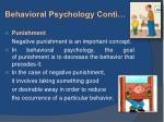 behavioral psychology conti2