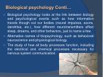 biological psychology conti