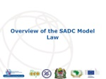 overview of the sadc model law