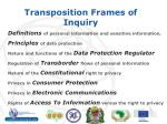 transposition frames of inquiry1
