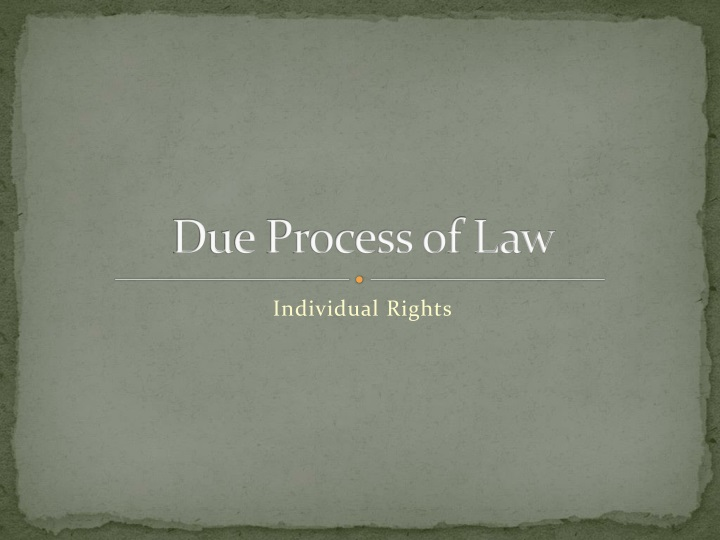 due process of law n.
