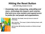 hitting the reset button 1 30 2 30 friday october 22 at au