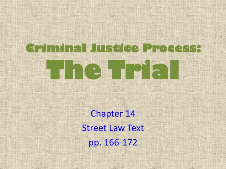 criminal justice final review