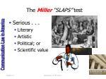 the miller slaps test