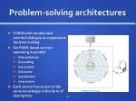 problem solving architectures