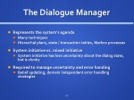 the dialogue manager