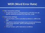 wer word error rate
