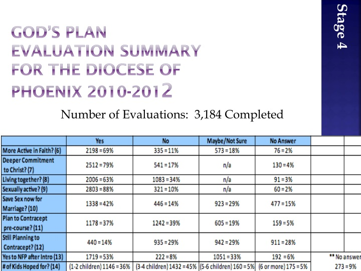God's Plan Evaluation Summary for the Diocese of Phoenix 2010-201