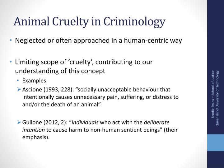 Animal cruelty in criminology