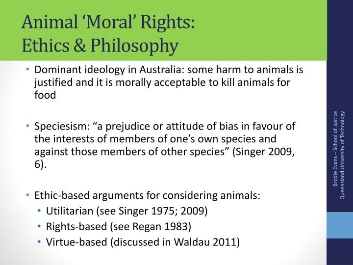 Animal 'Moral' Rights: