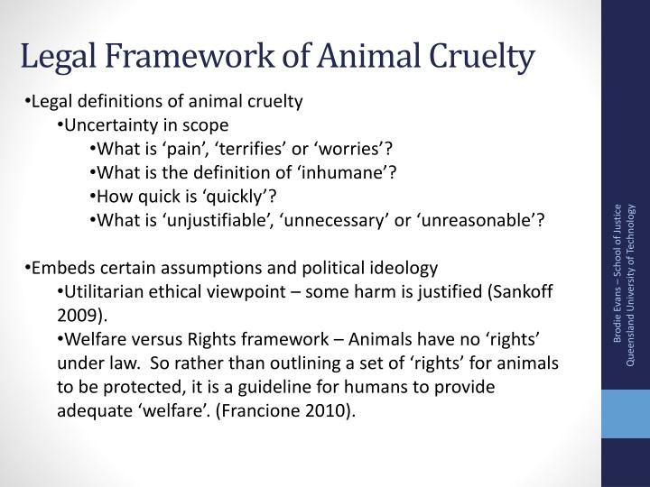 Legal Framework of Animal Cruelty