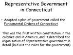 representative government in connecticut