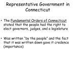 representative government in connecticut1