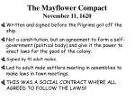 the mayflower compact november 11 1620
