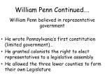 william penn continued