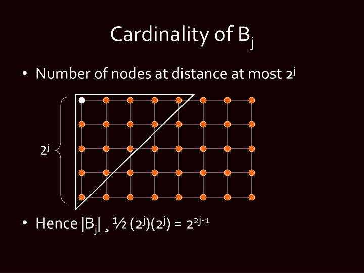 Cardinality of B