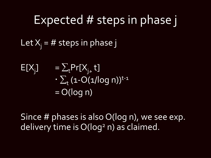 Expected # steps in phase j